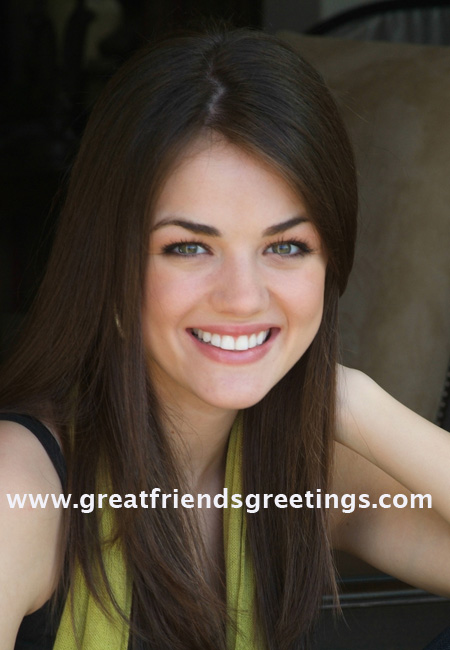 Lucy Hale of Pretty Little Liars at Great Friends Greetings